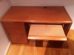 Wooden Desk with locked drawers