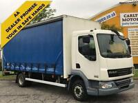 DAF LF 45 180 CURTAIN SIDE Box Van + T/Lift Low Mileage 12Ton Gross