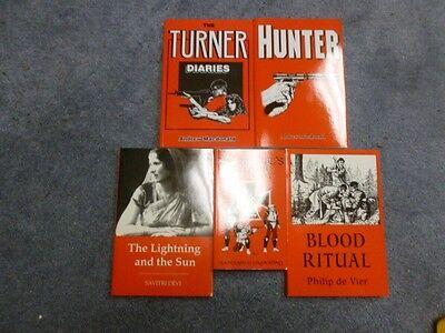 The Turner Diaries Full Five-Book Companion Set