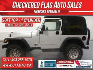 2006 Jeep TJ 4X4-63096km-32 INCH TIRES-6 SPEED-2 TOPS
