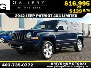 2012 Jeep Patriot 4x4 Limited $139 bi-weekly APPLY NOW DRIVE NOW