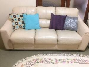 Genuine Leather  3 seater and Recliner Sunshine North Brimbank Area Preview