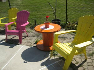 COLORFUL SPOOLS FOR YOUR DECK OR PATIO