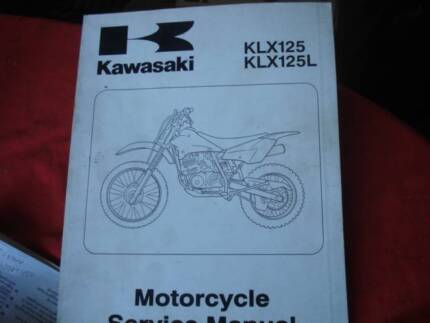 KAWASAKI  KX125 KLX125L FACTORY WORKSHOP  SUPPLEMENT MANUAL  2003 Dianella Stirling Area Preview