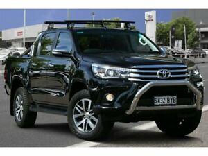 2015 Toyota Hilux GUN126R SR5 Double Cab Eclipse Black 6 Speed Sports Automatic Utility