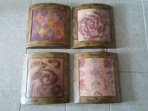 Uttermost Collectible Set of 4 wall hanging art paintings