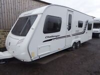 2010 Swift Challenger 625 6 berth twin axle,fixed bed,quad movers,awning,extras
