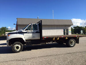 1997 GMC C6500 Topkick Flatbed Truck with twin-cylinder Dump