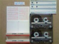 JL CHEAPEST ONLINE 2x RARE TDK D 120 D120 CASSETTE TAPES 1986-1987 W/ CARDS CASES LABELS ALL VGC