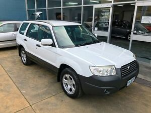 2006 Subaru Forester MY07 X White 5 Speed Manual Wagon Hobart CBD Hobart City Preview