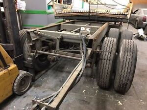 Axle assembly with tires, brakes, tanks, of transport trailer