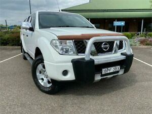 2009 Nissan Navara D40 ST-X King Cab White 5 Speed Automatic Utility