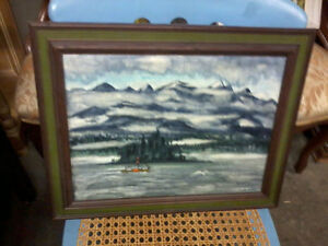 Oil painting on canvas (Inside Passage)