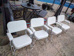 2 Boat deck chairs