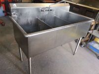 SS Quest triple sink with faucet !Save!Ready to work.