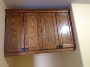 Solid Oak Cabinet  excellent condition non smoking home