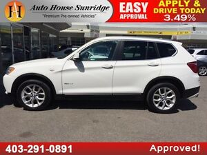 2013 BMW X3 28i PANORAMIC ROOF PUSH BUTTON START WatchShare Prin