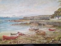 Painting of Dysart Harbour