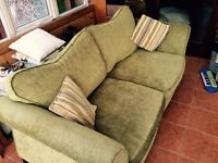 Dfs lime green 3 seater sofa