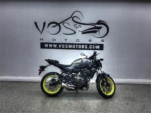 2017 Yamaha FZ07HG - V2728NP - ** Free Delivery in the GTA