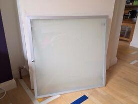 Ikea Bonde cabinet door - aluminium and frosted glass