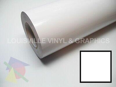 24 X 10ft - White Lvg Intercal Hi Gloss Sign Craft Cutting Vinyl