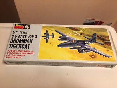 "SUPER-VINTAGE MONOGRAM 1/72  GRUMMAN F7F-3 'TIGERCAT""--FROM 1967 ! for sale  Berwyn"