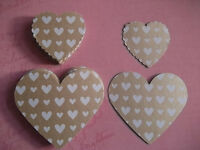 50 brown patterned hearts