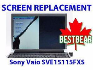 Screen Replacment for Sony Vaio SVE15115FXS Series Laptop