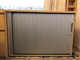 Tambour fronted cupboard - £20