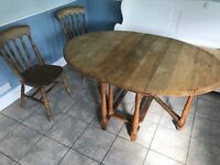 FREE Farmhouse Style Oval Table and 2 farmhouse style chairs - Collect Fri or Sat?