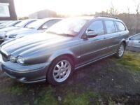 2004 04 reg jaguat x type classic awd auto estate 2.5 petrol mot 1 yearf s h £1395