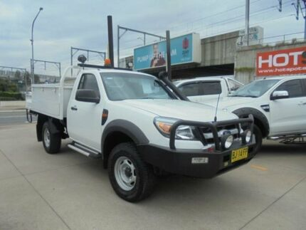 2010 Ford Ranger PK XL White 5 Speed Manual Cab Chassis Granville Parramatta Area Preview