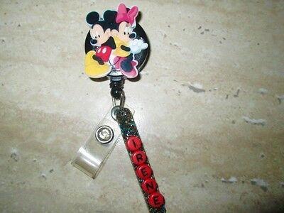 Id Badge Retractable Reel Magnet Or Clip Mickey Minniemedicaldoctor Icuvet