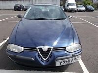 ALFA ROMEO 156 TS 2.0 VOLCANE SALOON Y REG,, FULL LEATHER INTERIOR,, MOT OCTOBER 2017