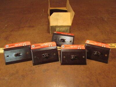 5 Vintage NOS brown Monowatt T Rated Switch light Art Deco design Bakelite