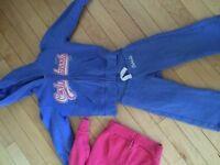 Two Oshkosh full zip sweaters and sweat pants!