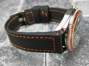 22mm-Rubber-Diver-Strap-Watch-Band-Maratac-Orange-Stitch-Planet-Ocean-PO-22