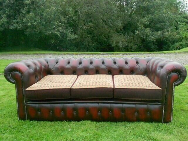 Astounding Chesterfield 3 Seater Oxblood Red Leather Sofa Mint In Londonderry County Londonderry Gumtree Cjindustries Chair Design For Home Cjindustriesco