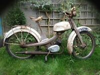 NSU Quickly scooter/ moped/ for restoration/ spares or repairs/ barn find/ winter project