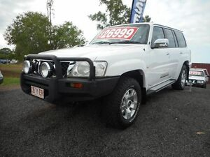 2010 Nissan Patrol GU 7 MY10 ST White 5 Speed Manual Wagon Winnellie Darwin City Preview