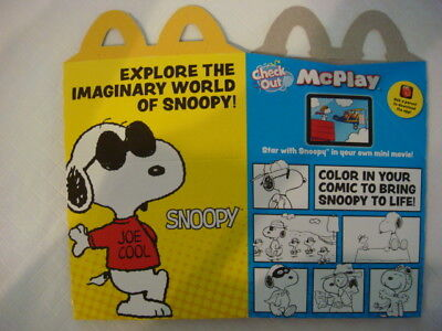 Mcdonalds 2018 Snoopy Happy Meal Box