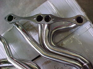 TRI 5-1955,56,57 SBC CHEVY HEADERS (only black left) long tube London Ontario image 2