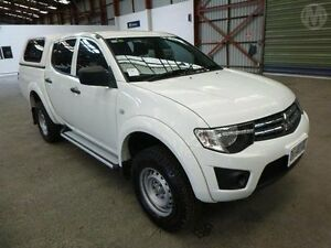 2014 Mitsubishi Triton MN MY14 Update GLX (4x4) White 4 Speed Automatic 4x4 Utility Bridgewater Brighton Area Preview