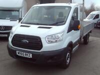 Ford Transit 350 L4 DROP SIDE 125PS EURO 5 DIESEL MANUAL WHITE (2015)