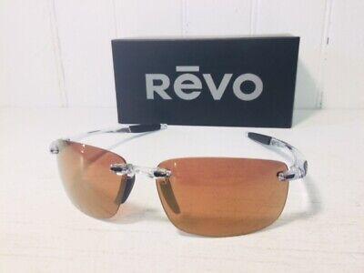 REVO RE4059 09 OR DESCEND N Crystal w/ Open Road POLARIZED Lenses Suns (Polarized Sun Lenses)