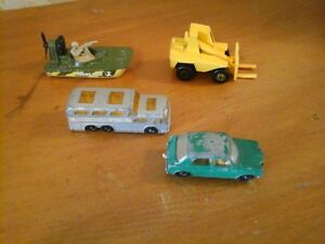A package of 4 Matchbox Toys