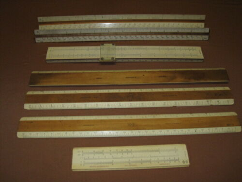 Wood Keuffel Esser Dietzgen Ruler Rulers 1/2 Size Excello Engineering Drafting