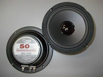 "PAIR_OF_2_NEW_FINE_QUALITY_NIPPON_5-1/4""_CLOSED_BACK_MIDRANGE_SPEAKERS_5.25"""
