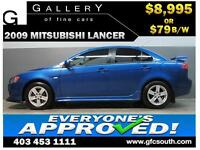2009 MITSUBISHI LANCER SPORT *EVERYONE APPROVED* $0 DOWN $79/BW!